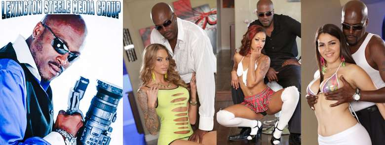 Lexington Steele stretching whores out with huge black cock